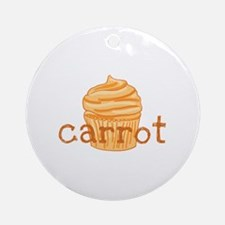 Carrot Cupcake - Ornament (Round)