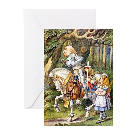 AL:ICE AND THE WHITE KNIGHT Greeting Cards (Pk of