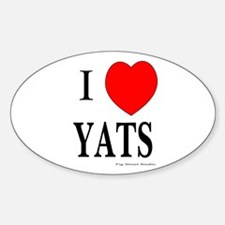 I Love Yats Oval Decal