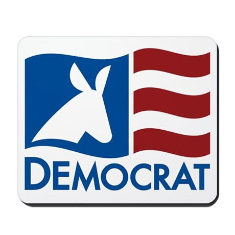 Democratic Flag Mousepad