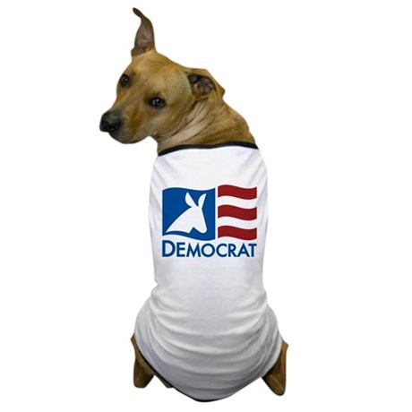 Democratic Flag Dog T-Shirt