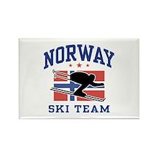 Norway Ski Team Rectangle Magnet