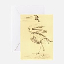 Bird Fossil Drawing Greeting Card