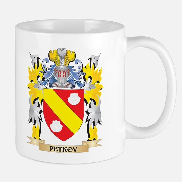 Petkov Family Crest - Coat of Arms Mugs