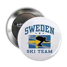 """Sweden Ski Team 2.25"""" Button"""