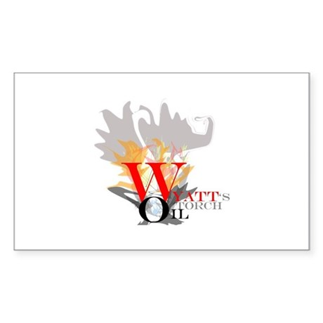 Wyatt's Torch Sticker (Rectangle)