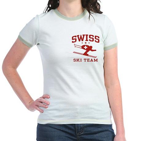 Swiss Ski Team Jr. Ringer T-Shirt