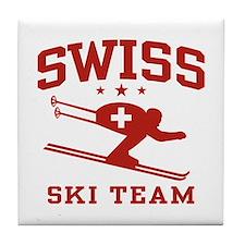 Swiss Ski Team Tile Coaster