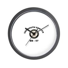 USS South Dakota BB 57 Wall Clock