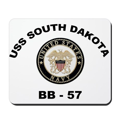USS South Dakota BB 57 Mousepad