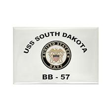 USS South Dakota BB 57 Rectangle Magnet