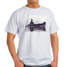 USS South Dakota Ship's Image Ash Grey T-Shirt