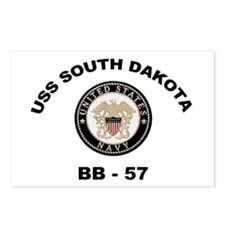USS South Dakota BB 57 Postcards (Package of 8)