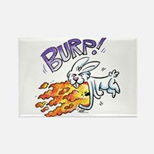 Flaming Burping Bunny Rectangle Magnet