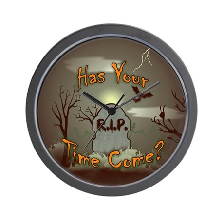 Has Your Time Come? Halloween Wall Clock
