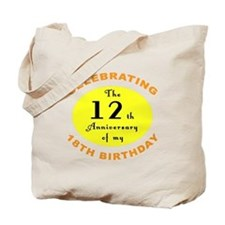 30th Birthday Anniversary Tote Bag