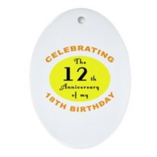 30th Birthday Anniversary Ornament (Oval)