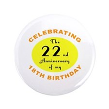 "40th Birthday Anniversary 3.5"" Button"