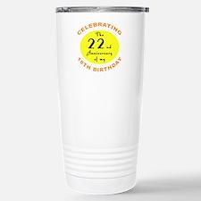 40th Birthday Anniversary Travel Mug