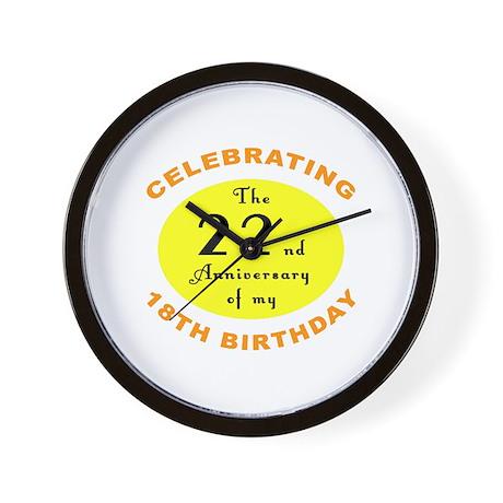 40th Birthday Anniversary Wall Clock