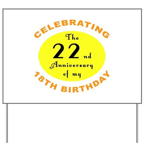 40th Birthday Anniversary Yard Sign