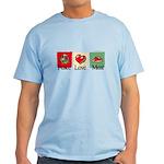 Peace, love, meat Light T-Shirt