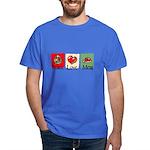 Peace, love, meat Dark T-Shirt