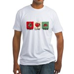 Peace, love, meat Fitted T-Shirt