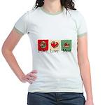 Peace, love, meat Jr. Ringer T-Shirt