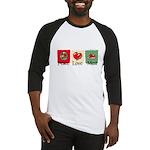 Peace, love, meat Baseball Jersey