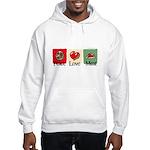 Peace, love, meat Hooded Sweatshirt