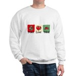 Peace, love, meat Sweatshirt