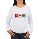 Peace, love, meat Women's Long Sleeve T-Shirt