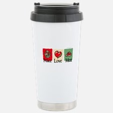 Peace, love, meat Stainless Steel Travel Mug