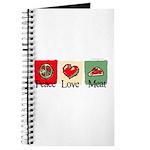 Peace, love, meat Journal