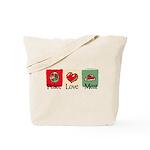 Peace, love, meat Tote Bag