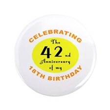 "60th Birthday Anniversary 3.5"" Button"
