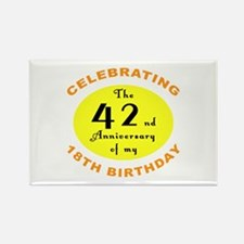 60th Birthday Anniversary Rectangle Magnet