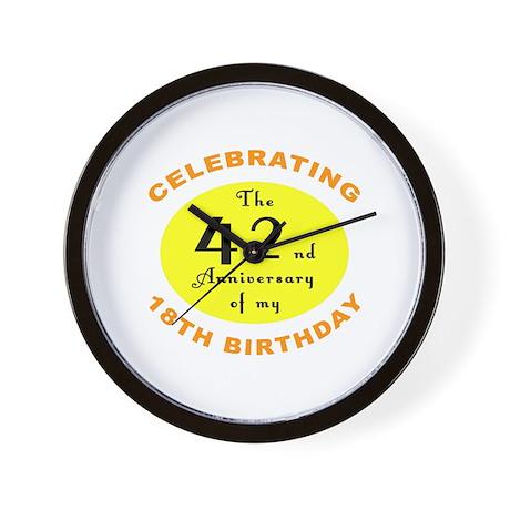 60th Birthday Anniversary Wall Clock