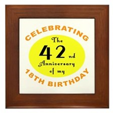 60th Birthday Anniversary Framed Tile