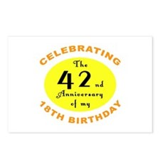 60th Birthday Anniversary Postcards (Package of 8)