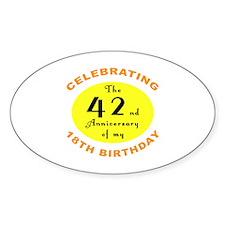 60th Birthday Anniversary Decal