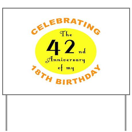 60th Birthday Anniversary Yard Sign