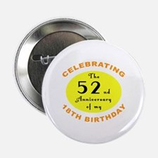 "70th Birthday Anniversary 2.25"" Button"