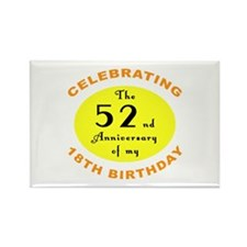 70th Birthday Anniversary Rectangle Magnet