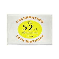 70th Birthday Anniversary Rectangle Magnet (10 pac