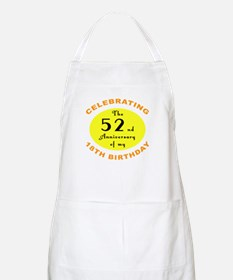 70th Birthday Anniversary Apron