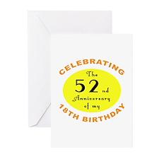 70th Birthday Anniversary Greeting Cards (Pk of 10