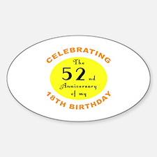 70th Birthday Anniversary Decal