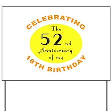 70th Birthday Anniversary Yard Sign